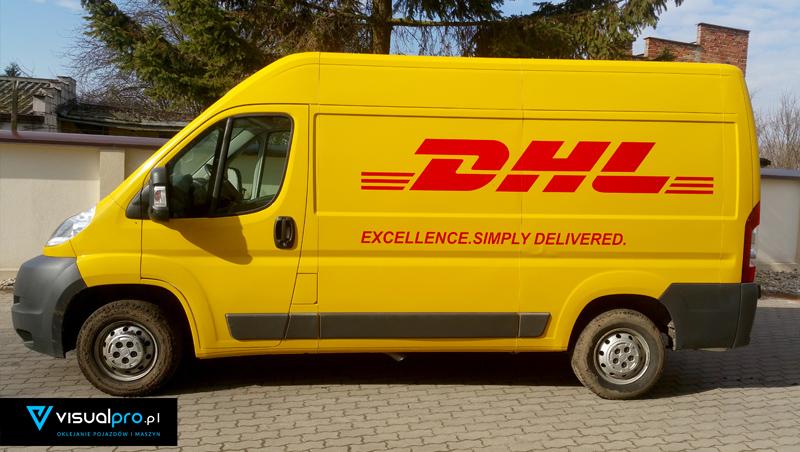 Oklejanie Auta DHL