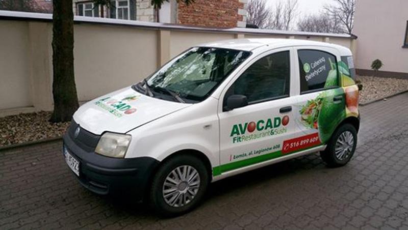 Reklama Na Samochodzie Avocado