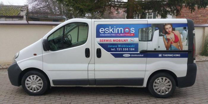 Eskimos - reklama na samochodzie