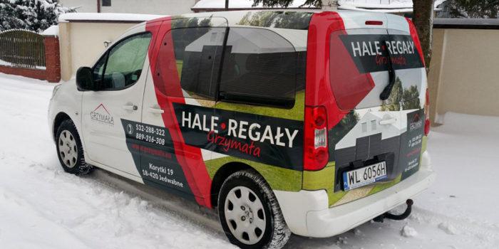 HALE Grzymała - reklama na samochodzie
