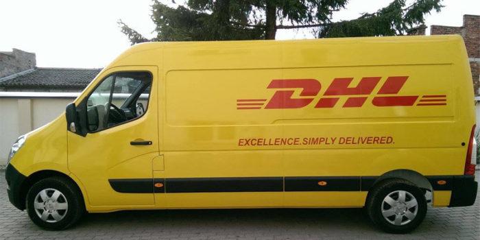DHL - zmiana koloru + loga