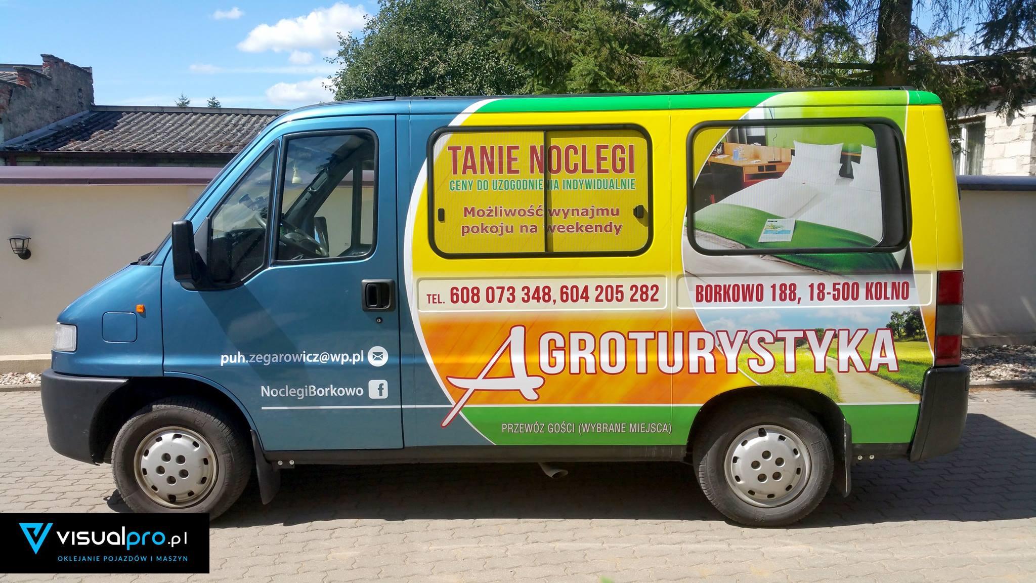 Reklama Na Samochodzie Agroturystyka