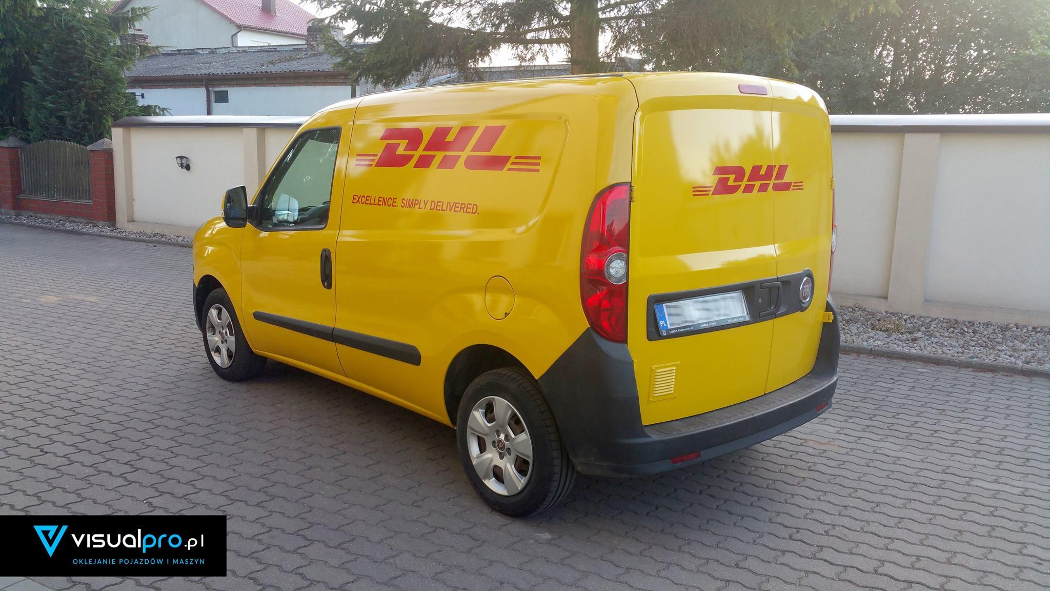 Samochód Oklejony Dla DHL