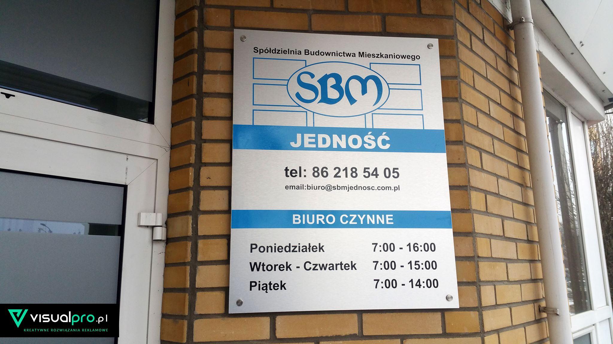 Tablica Informacyjna SBM Jedność