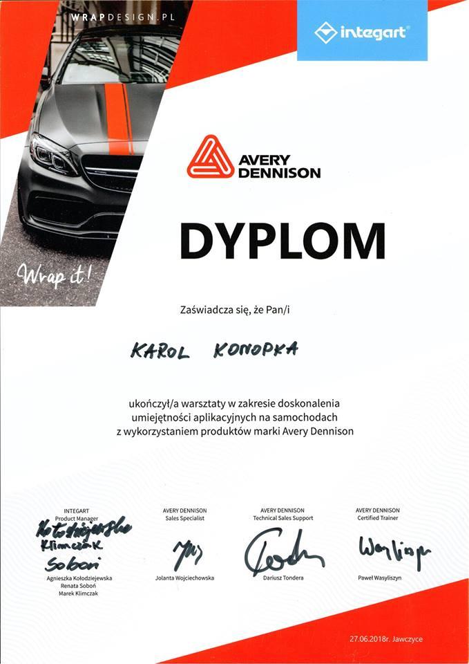 Dyplom Avery Dennision