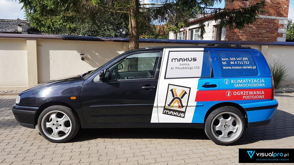 Reklama na samochodzie Maxus