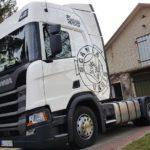 Oklejanie kabiny Scania